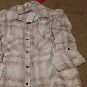 Womens long sleeve flannel